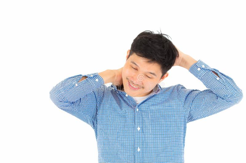 A young handsome man relax royalty free stock photo
