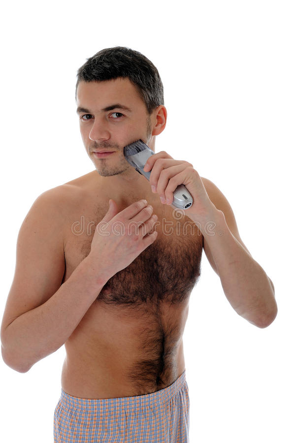 Download Young Handsome Man Shaving In The Morning Stock Photo - Image: 17824238