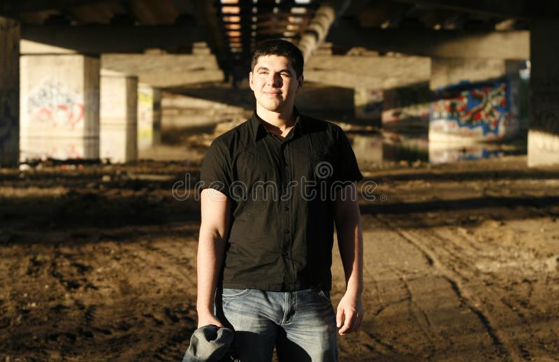 Young Handsome Man Smiling Stock Image