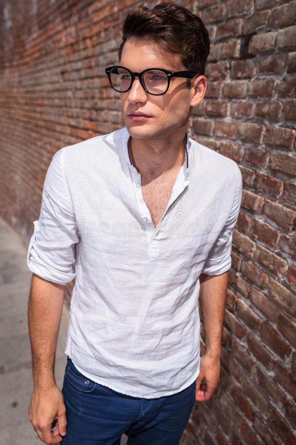 Young handsome man wearing glasses royalty free stock photo