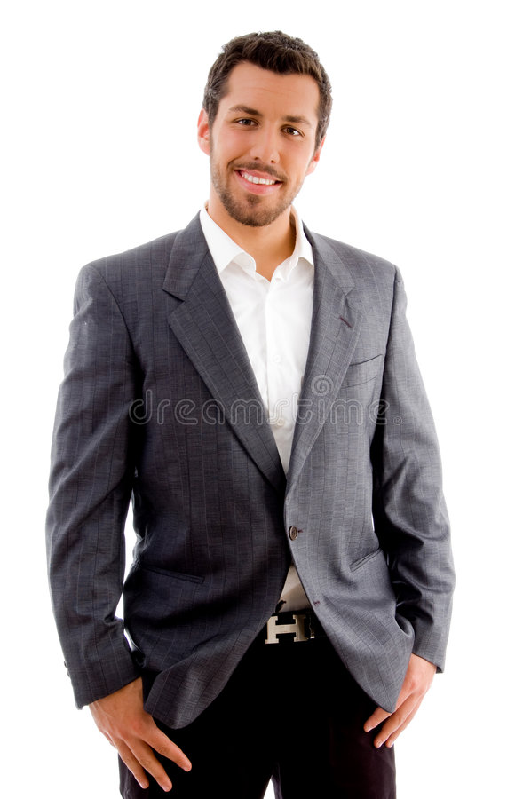 Young handsome professional royalty free stock photo