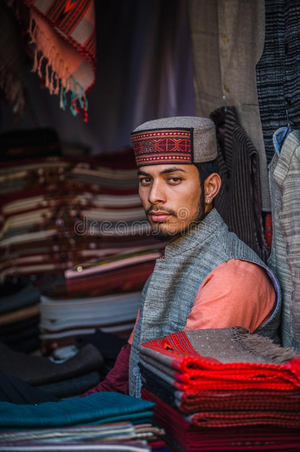 Young, handsome and proud indian as seen in the streets of Delhi royalty free stock images