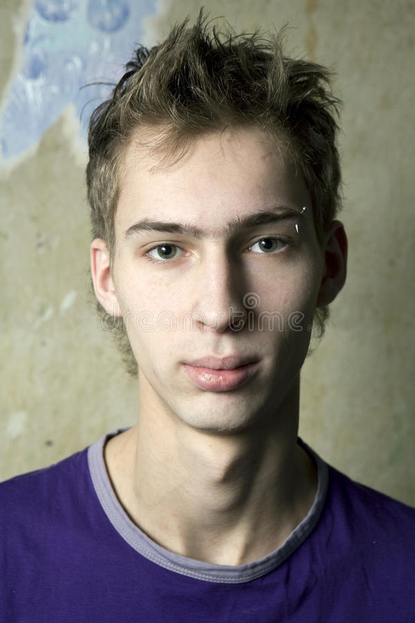 Young handsome serious man stock photography