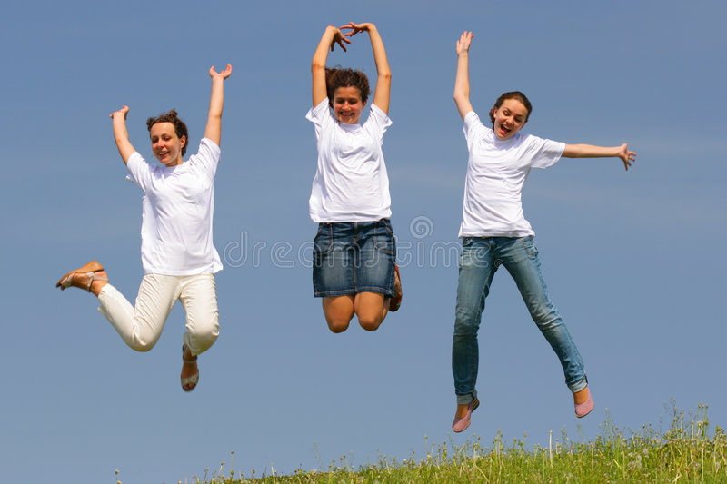 Young and happy stock images