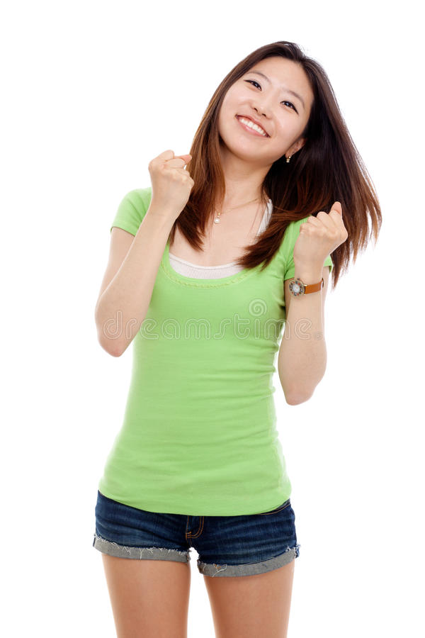 Young happy Asian woman. stock photos