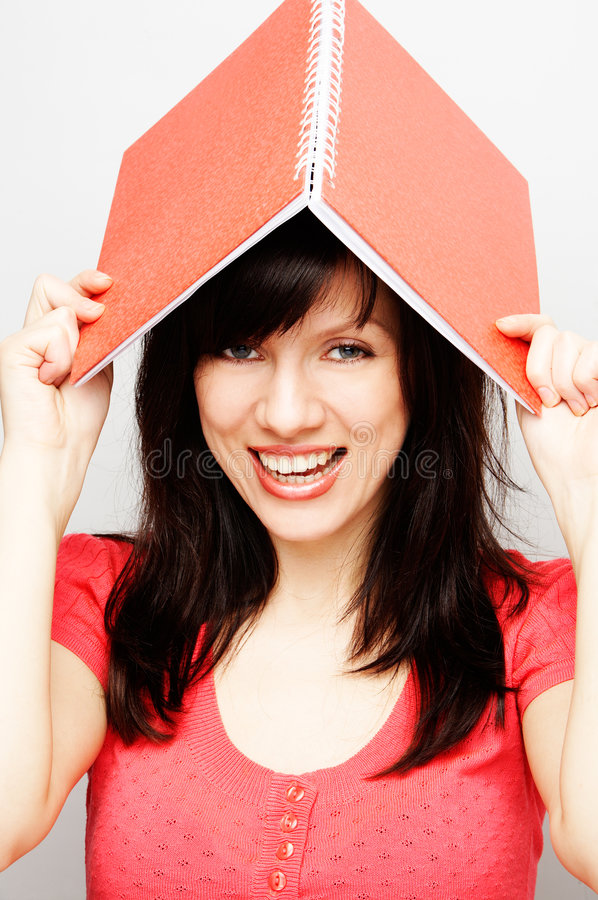 Young happy beautiful woman royalty free stock photo