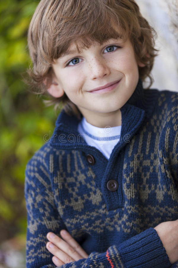 Young Happy Boy Smiling stock photography