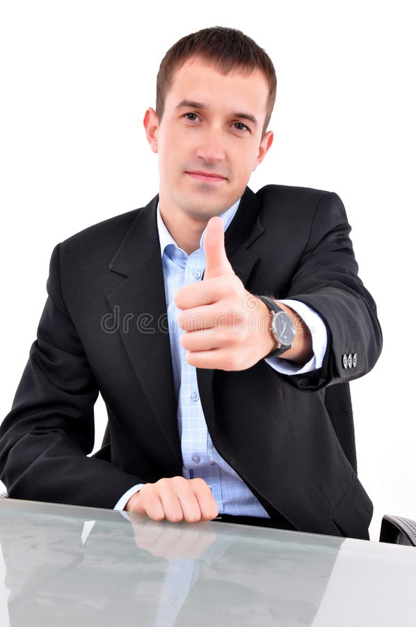 Young happy business stock photo