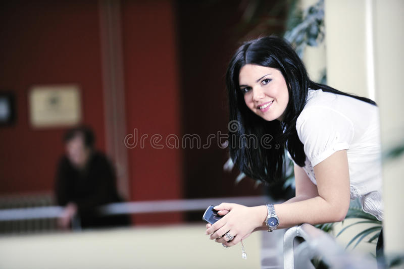 Download Young Happy Business Woman Talking By Cellphone Stock Image - Image: 13426643