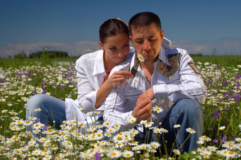 Young happy couple stock images