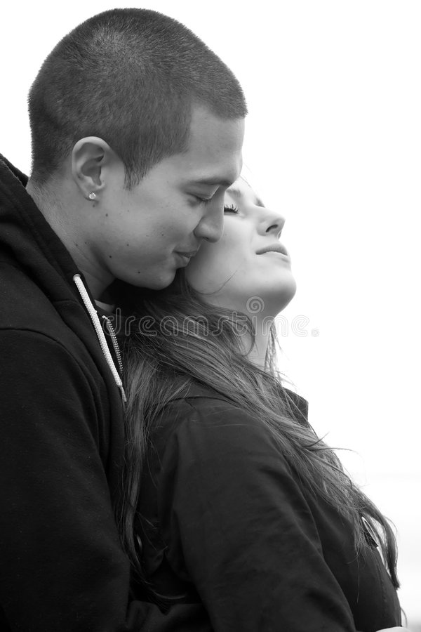 Download Young Happy Couple stock photo. Image of high, young, peace - 5402194