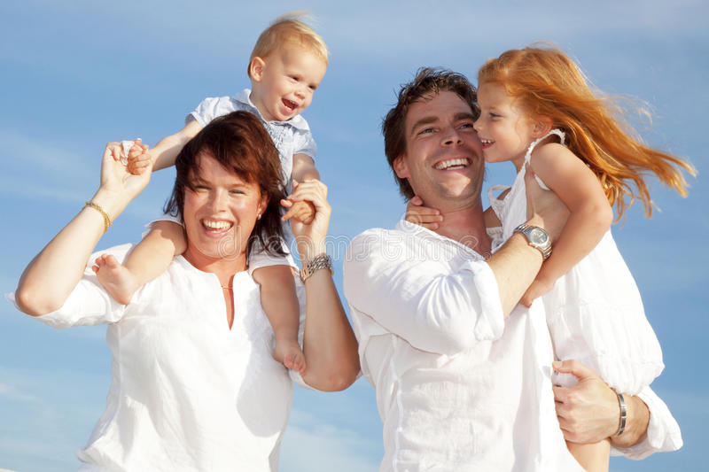 Young happy family royalty free stock photography
