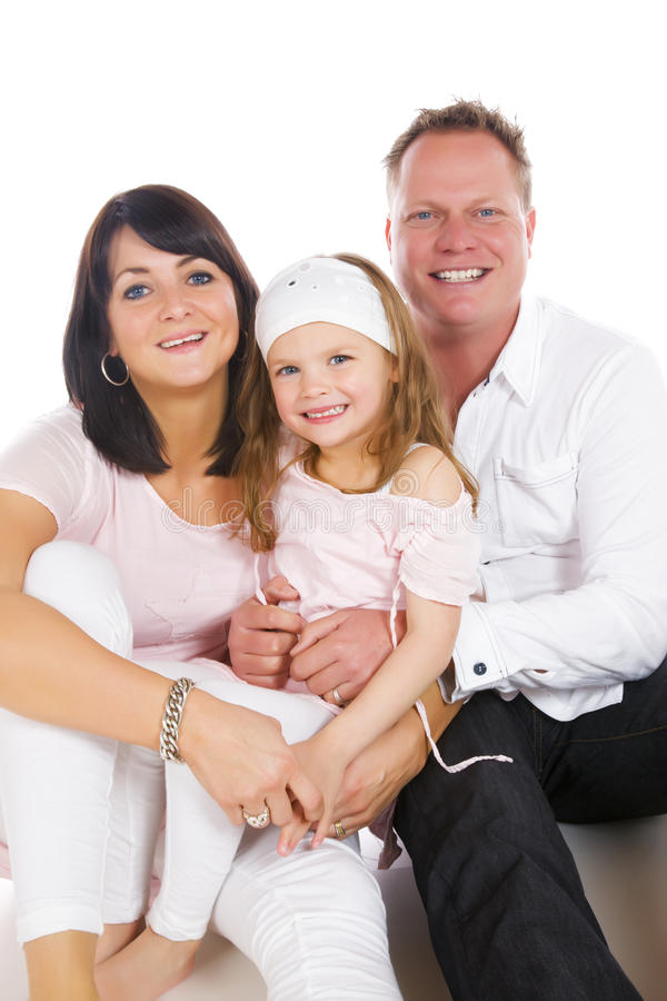Young happy family stock photos