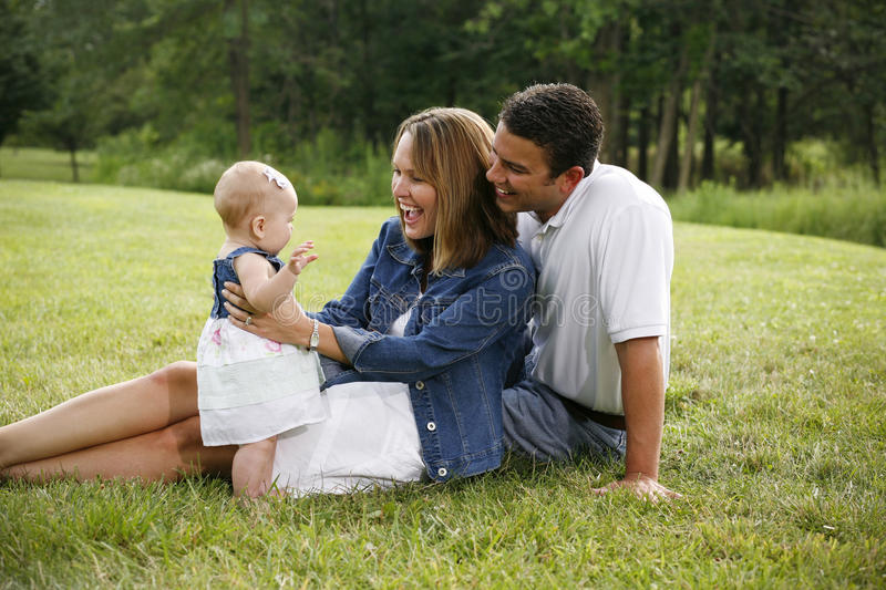 Young Happy Family Royalty Free Stock Photos