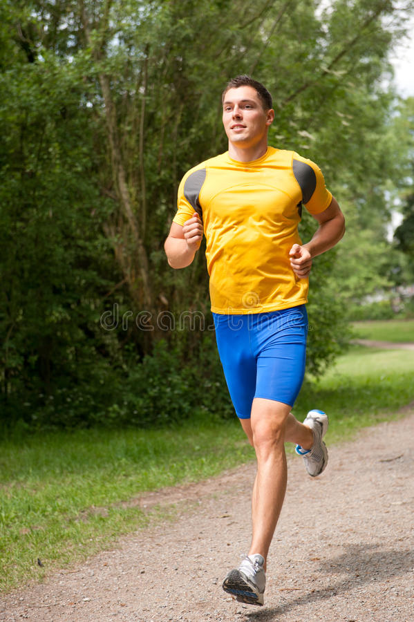 Young And Happy Jogger Stock Photo