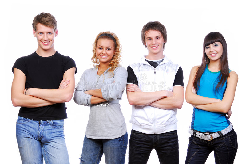 Download Young happy people stock photo. Image of cute, highschool - 7514252