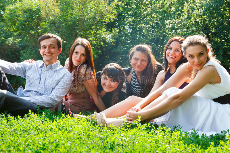 Download Young Happy People Having Fun Stock Photo - Image: 26944806