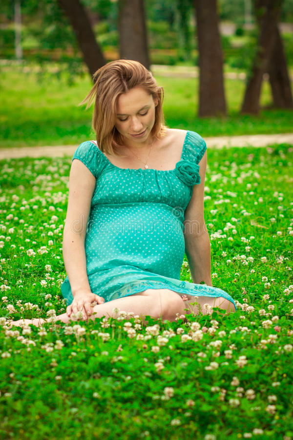 Download Young happy pregnant woman stock photo. Image of mother - 25552526