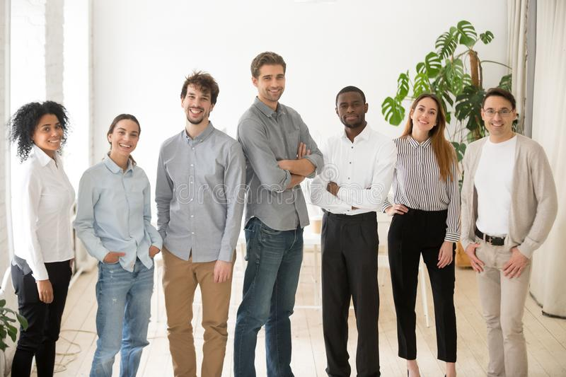 Young happy professional diverse people group or business team p royalty free stock photography