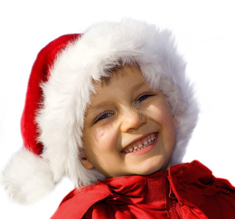 Young happy Santa. royalty free stock image