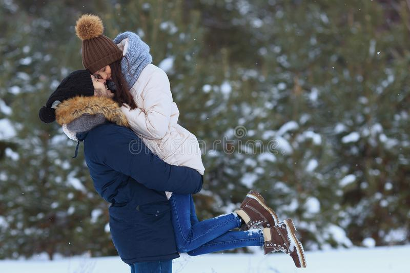 Young happy smiling couple in love stock images