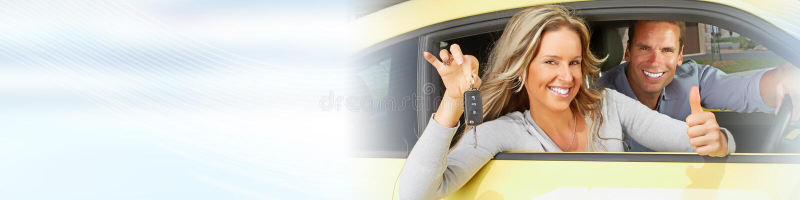 Driver woman royalty free stock photography