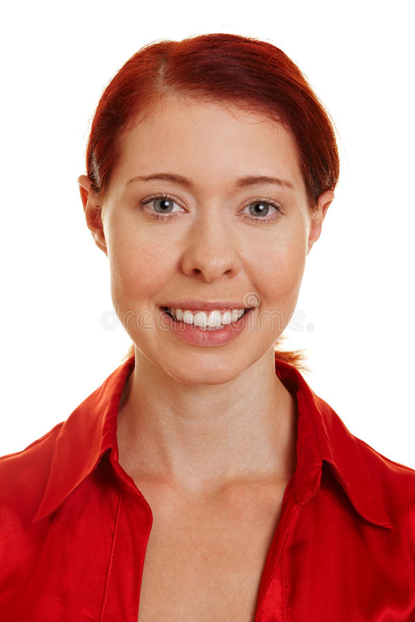 Young happy smiling redhaired woman stock images