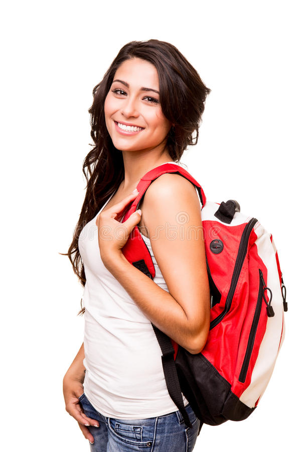Young happy student royalty free stock photo