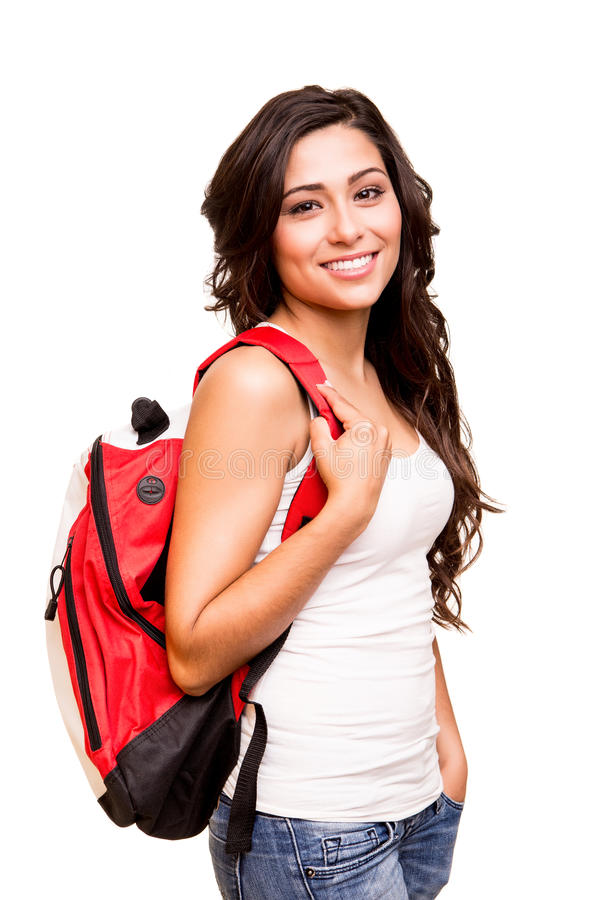 Young happy student royalty free stock images