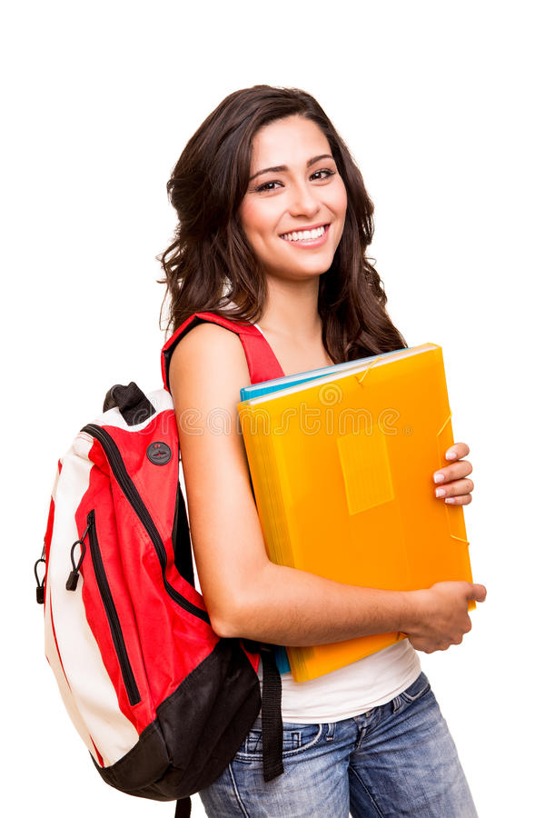 Young happy student royalty free stock image