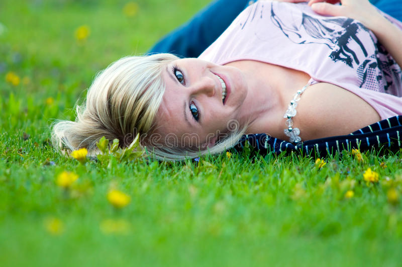 Download Young happy woman stock photo. Image of portrait, park - 14647762