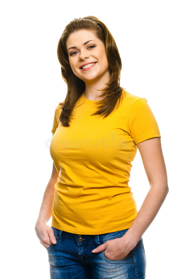 Download Young happy woman stock image. Image of cute, lady, attractive - 23495571