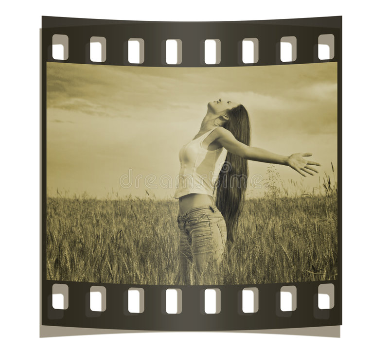 Free Young Happy Woman In Field Stock Photo - 2770370