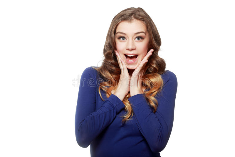 Young happy woman portrait royalty free stock images