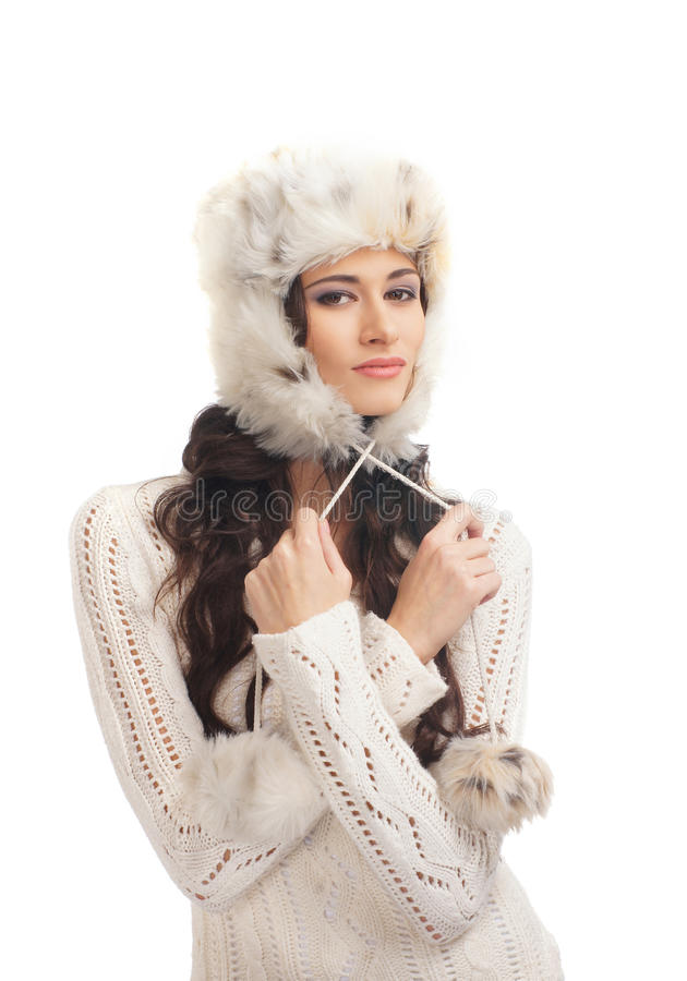 Download A Young And Happy Woman In A Warm Winter Hat Stock Photo - Image: 28320660