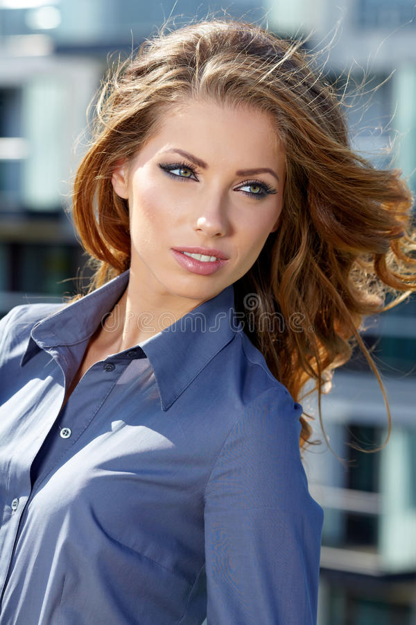 Young Happy Women Or Student Stock Images