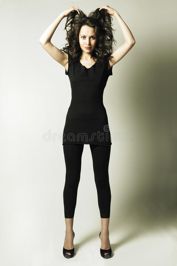 Download Young Harmonous Lady In Shoes Stock Image - Image: 10633083