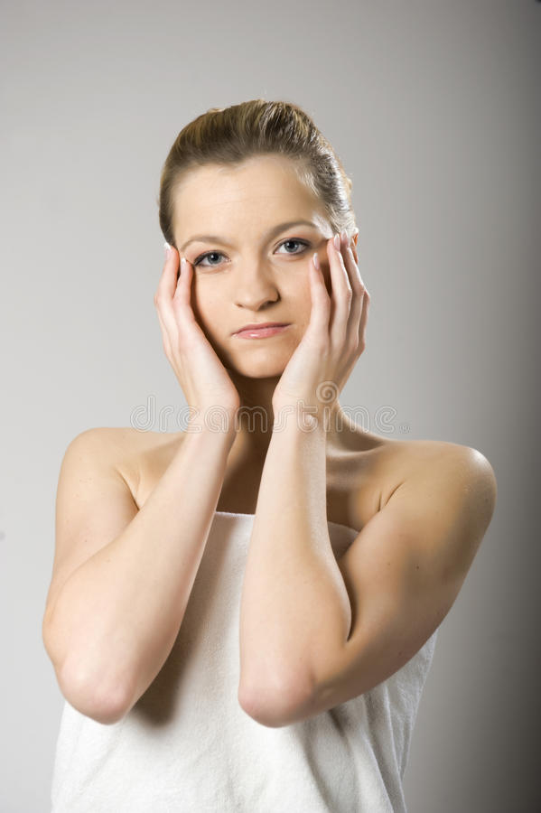 Young healthy SPA woman with pure skin