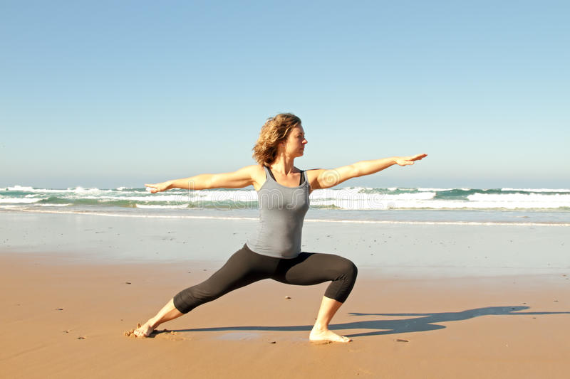 Download Young Healthy Woman Doing Yoga Exercises Stock Image - Image: 18261633
