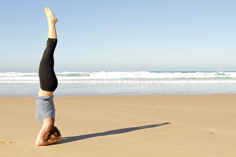 Download Young Healthy Woman Doing Yoga Exercises Stock Photo - Image: 18300378