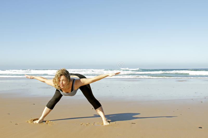 Download Young Healthy Woman Doing Yoga Exercises Stock Image - Image: 18480659