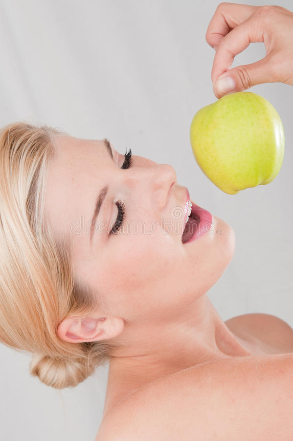 Free Young Healthy Woman With Apple Stock Photos - 11886933
