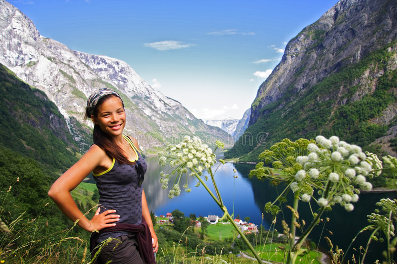 Download Young Hiker in Norway stock image. Image of chinese, landscape - 7062901