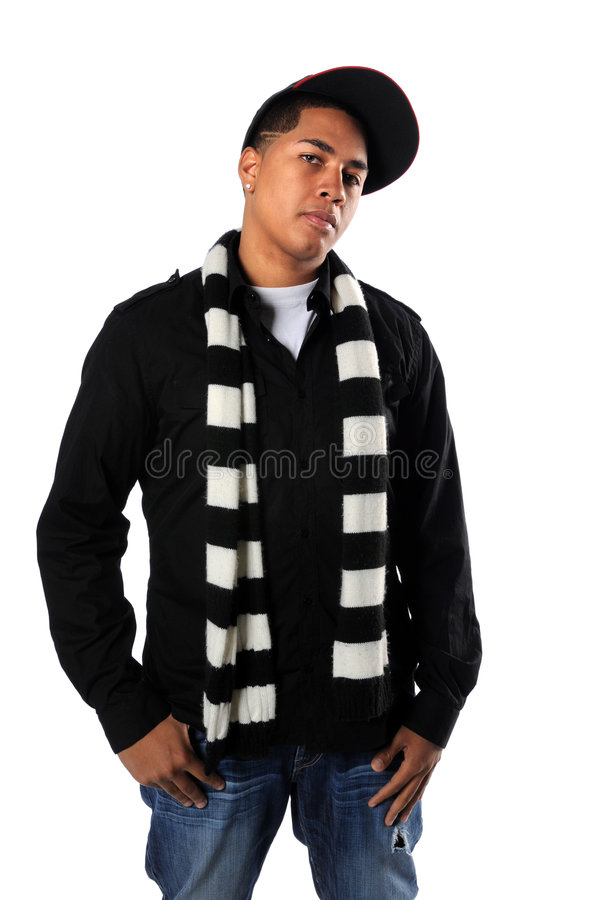 Young Hip-Hop man Posing royalty free stock photos