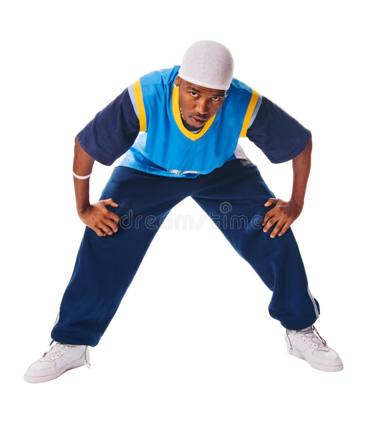 Download Young Hiphop Dancer On White Stock Image - Image: 12741225