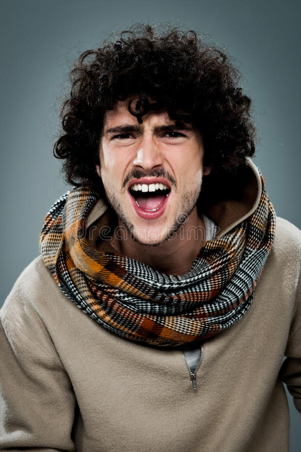 Download Young Hippie Shouting stock image. Image of real, cute - 30068969