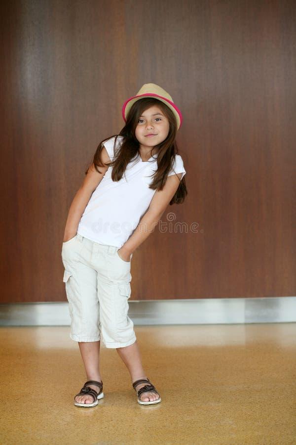 Young hispanic girl dancing stock image