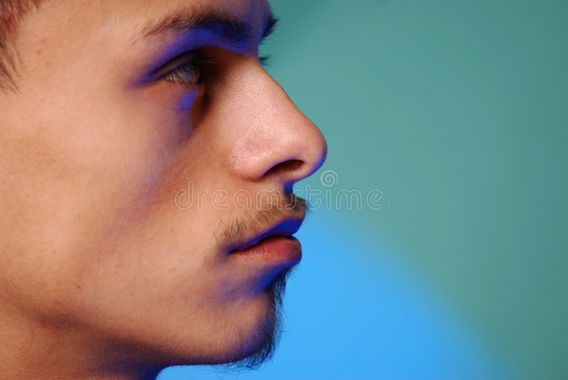Young hispanic male profile stock photos