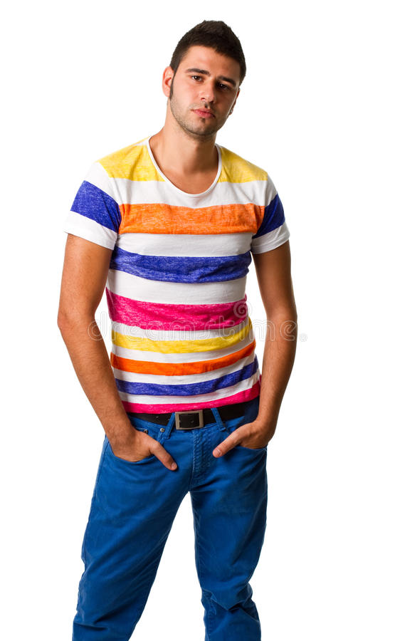 Download Young Hispanic Man Standing Stock Photo - Image: 22234918