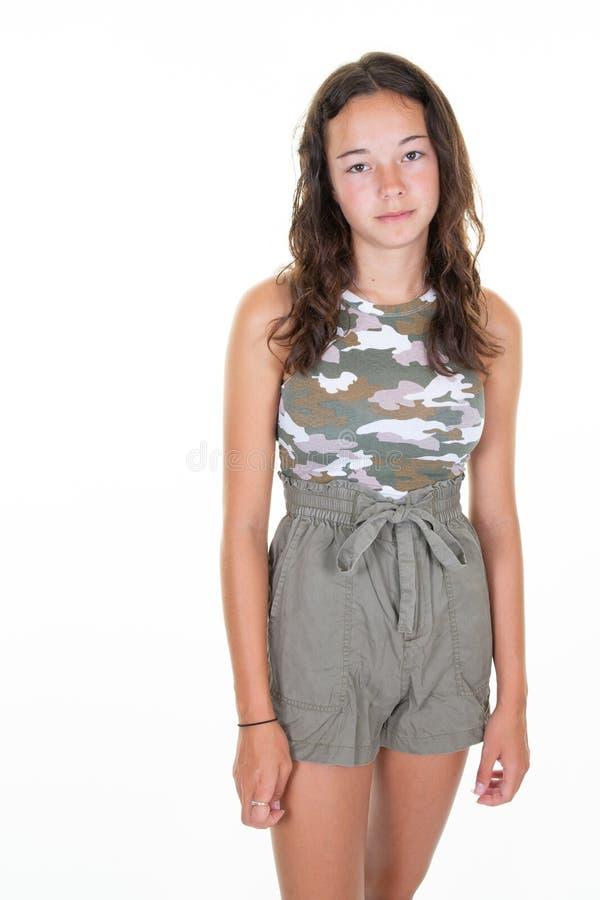 Young hispanic pretty cute woman fashion teenager girl royalty free stock photos